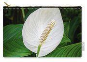 White Tail-flower Carry-all Pouch