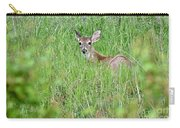 White-tailed Deer Bedded Down In Tall Grass Carry-all Pouch