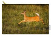 White-tailed Doe Leaping Carry-all Pouch