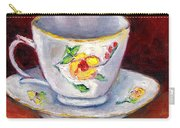 White Tea Cup With Yellow Flowers Grace Venditti Montreal Art Carry-all Pouch