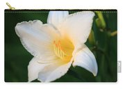 White Temptation Lily Carry-all Pouch