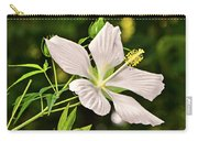 White Texas Star Hibiscus 003 Carry-all Pouch