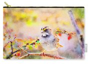 White Throated Sparrow - Digital Paint 1                                             Carry-all Pouch