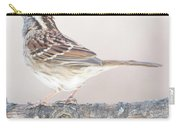White-throated Sparrow Looking Skyward Carry-all Pouch