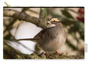 White Throated Sparrow On Branch New Jersey Carry-all Pouch