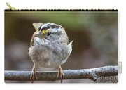 White Throated Sparrow Portrait Carry-all Pouch