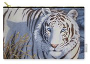 White Tiger - Crystal Eyes Carry-all Pouch by Crista Forest