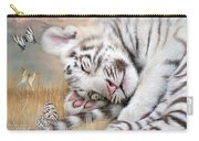 White Tiger Dreams Carry-all Pouch by Carol Cavalaris