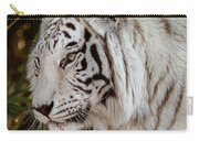 White Tiger Portrait 2 Carry-all Pouch