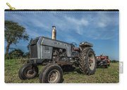 White Tractor Carry-all Pouch