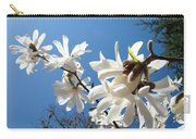 White Tree Flowers Art Prints Magnolia Blue Sky Floral Baslee Troutman Carry-all Pouch