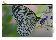 White Tree Nymph Polinating Purple Flowers Carry-all Pouch