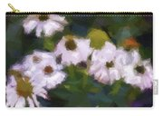 White Triangle Flowers Carry-all Pouch