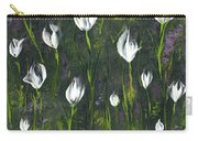 White Tulip Garden Carry-all Pouch