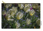 White Tulips In The Garden Carry-all Pouch