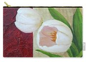 White Tulips Carry-all Pouch by Phyllis Howard