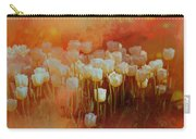 White Tulips Carry-all Pouch by Richard Ricci