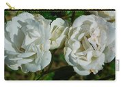 White Twin Flowers Carry-all Pouch