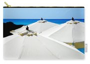 White Umbrellas Carry-all Pouch by Karen Wiles