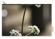 White Valerian Carry-all Pouch
