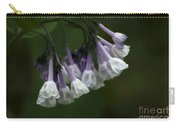 White Virginia Bluebells Carry-all Pouch