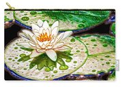 White Water Lilies Flower Carry-all Pouch