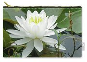 White Water Lily Wildflower - Nymphaeaceae Carry-all Pouch
