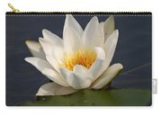 White Waterlily 1 Carry-all Pouch