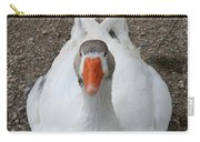 White Wild Duck Sitting On Gravel Carry-all Pouch