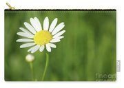 White Wild Flower Spring Scene Carry-all Pouch