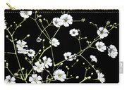 White Wild Flowers Carry-all Pouch