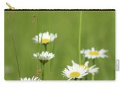 White Wild Flowers Nature Spring Scene Carry-all Pouch