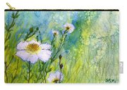 White Wild Poppies Carry-all Pouch