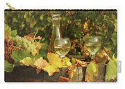 White Wine And Grape In Vineyard Carry-all Pouch