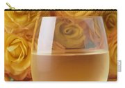 White Wine And Yellow Roses Carry-all Pouch