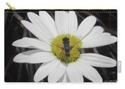 White With Bee Carry-all Pouch