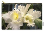White With Yellow Orchids  Carry-all Pouch