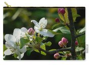 White Woodland Crabapple Flowers Carry-all Pouch
