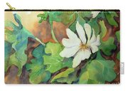 White Woodland Flower Carry-all Pouch
