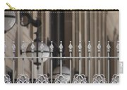 White Wrought Iron Gate In Chicago Carry-all Pouch