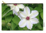 White, Yellow, And Purple Clematis Blossom Carry-all Pouch