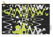 White Yellow On Black Carry-all Pouch