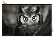 Whitefaced Owl Carry-all Pouch by Johan Swanepoel