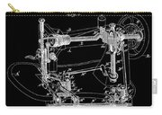 Whitehill Sewing Machine Patent 1885 Black Carry-all Pouch