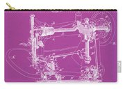 Whitehill Sewing Machine Patent 1885 Pink Carry-all Pouch