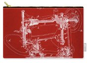 Whitehill Sewing Machine Patent 1885 Red Carry-all Pouch