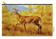 Whitetail Deer In Aspen Woods Carry-all Pouch by Crista Forest