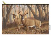 Whitetail Deer Painting - Fall Flame Carry-all Pouch by Crista Forest