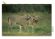 Whitetail Deer Share An Initmate Moment Texas Wildlife Carry-all Pouch