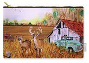 Whitetail Deer With Truck And Barn Carry-all Pouch